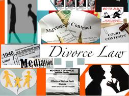 Divorce Law ~ Family Law + Test + Flashcards = 87 Slides ~ Civil Law