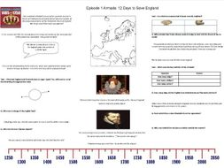 BBC - Armada: 12 Days to Save England - Episode 1 - Worksheet to support the BBC Documentary