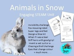Animals in Snow - STEAM - Biomimicry for Young Children -
