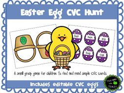 Easter Egg Hunt CVC Word Game