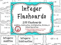 Integer Operations - 200 Flashcards