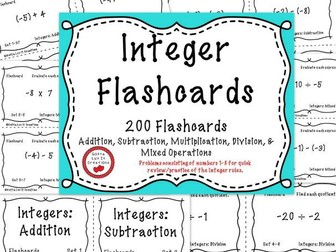 Integer Operations - 200 Flashcards