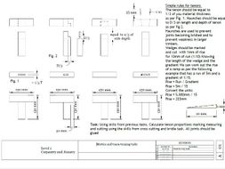 mortice and tenon task with gradients