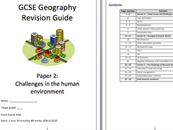 Human geography revision guide - AQA GCSE