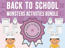Back to School Monsters - Activities BUNDLE