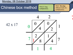 l2 long multiplication lesson chinese box method by osmith25
