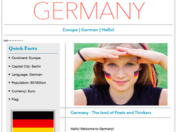 Discover Germany - Printable & Worksheet