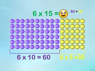 Using Place Value to Multiply - Multiplication PowerPoint with Arrays