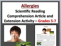 Allergies - Scientific Reading Comprehension Article – Grades 5-7