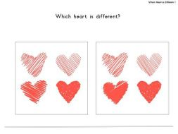 Valentines Which Heart is Different?
