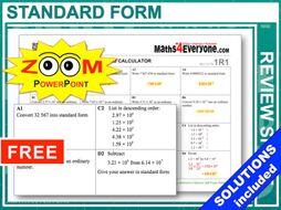 GCSE Revision (Standard Form 1)