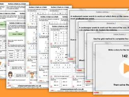 Year 5 Multiply 3-Digits by 2-Digits Spring Block 1 Step 4 Maths Lesson Pack