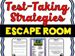 Test Taking Strategies Escape Room - No Prep!