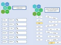 German verbs and nouns worksheet