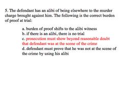 Criminal Law Test Questions ~ 300 Multiple Choice Questions