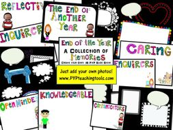 An End of the Year Collection of Memories Editable Slide Presentation IB PYP