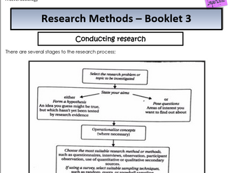 AQA Sociology - Year 1 - Research Methods - Research process