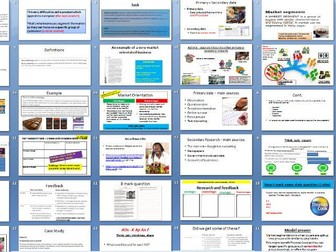Edexcel AS A Level Business - Theme 1 (1.1) Meeting customer needs (dynamic, research, mapping etc.)