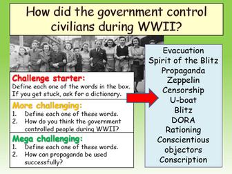 Impact of War WWII Civilians