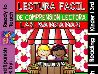 Easy Reading for Reading Comprehension in Spanish - Special Edition - Apples
