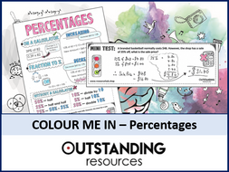 Colour Me In Sheets or Doodle Notes - Percentages