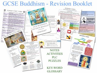 GCSE Buddhism - Revision Workbook  (AQA/OCR) - Revision Activities, Notes, Tasks - 40 PAGE BOOKLET!