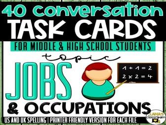 Conversation Starter Cards | Jobs | Social Skills for Middle&High