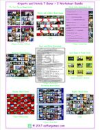 Airports and Hotels 7 Game Plus 2 Worksheet Bundle