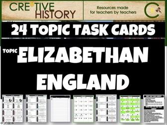 Elizabethan England Task Cards