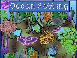 Ocean Setting Clip Art