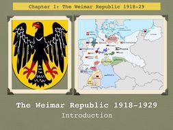 GCSE History Weimar Republic. Unit 1. Introduction. 1918-29