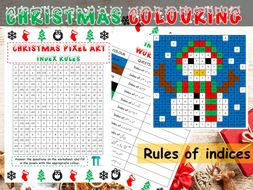 Christmas maths GCSE revision on indice rules