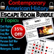Modern/ Contemporary American History Escape Room: Social Studies Bundle
