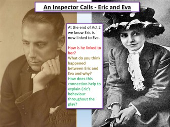 An Inspector Calls - Eric and Eva