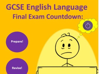 AQA 8700 English Language Exam 10 Week Countdown Poster