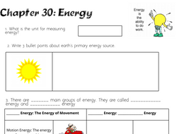ENERGY Revision Worksheet _ SEN
