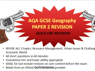 GCSE Geography mock exam revision: economic world , resource management, urbanisation