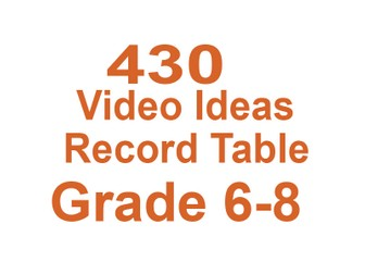 430 Videos for Grade 6-8 Middle School