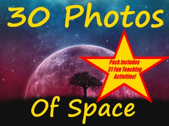 30 Photos World Space Week + cross-curricular workbook + 31 Fun Teaching Activities For These Cards