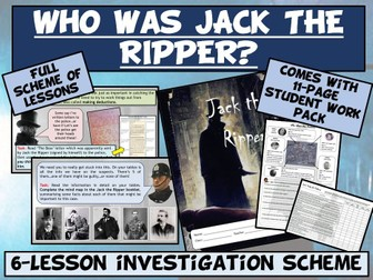 Jack the Ripper 6-Lesson Investigation Pack