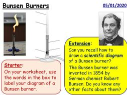 Year 7 Science Practical Skills - 3 full lessons (KS3 Bunsens)