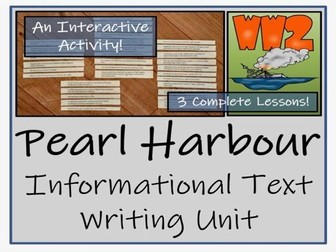 UKS2 History - Pearl Harbour Informational Text Writing Unit