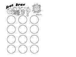 Early finisher / free draw art worksheet based on circles by ...