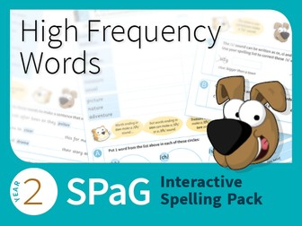 Year 2 SPaG Interactive Spelling Pack - High Frequency Words