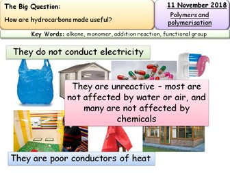 New AQA GCSE Trilogy/Chemistry Polymers entire lessons and resources