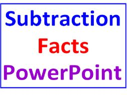 Subtraction Facts PowerPoint One