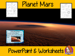 Planet Mars PowerPoint and Worksheets Lesson