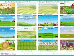 Comparisons with As ...+... As Barnyard English PowerPoint Game