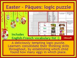 French Easter thinking skills