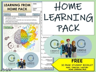 Home Learning Transition pack